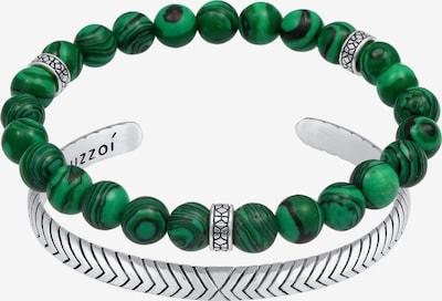 KUZZOI Armband Armreif, Edelsteinarmband in grün / silber, Produktansicht