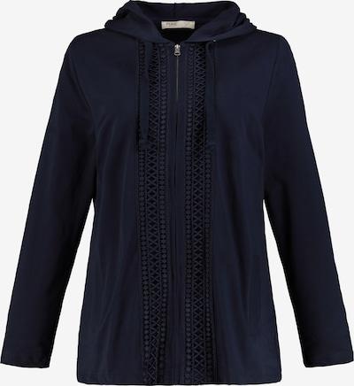 Ulla Popken Sweatjacke in nachtblau, Produktansicht