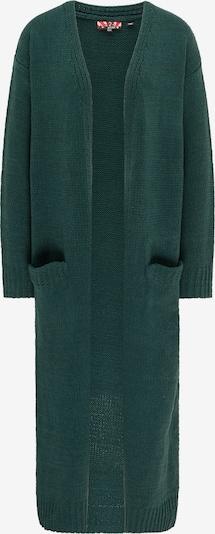 myMo ROCKS Gebreide mantel in de kleur Donkergroen, Productweergave