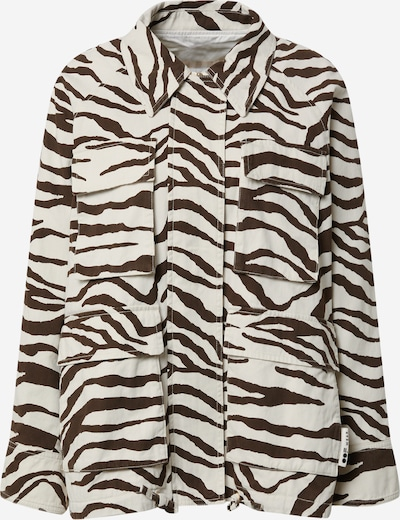 OOF WEAR Jacke in kastanienbraun / weiß, Produktansicht