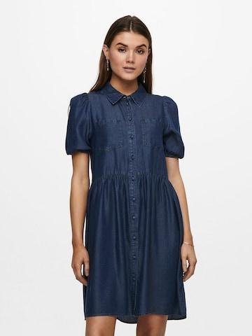 ONLY Blusenkleid in Blau