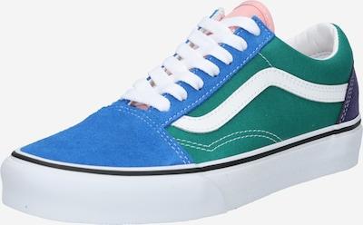 VANS Baskets basses 'Old Skool' en marine / bleu ciel / vert gazon / blanc, Vue avec produit
