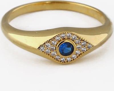 Orelia Bague en bleu marine / or / blanc, Vue avec produit