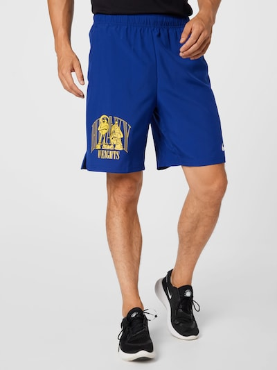 NIKE Športové nohavice - modrá / žltá, Model/-ka