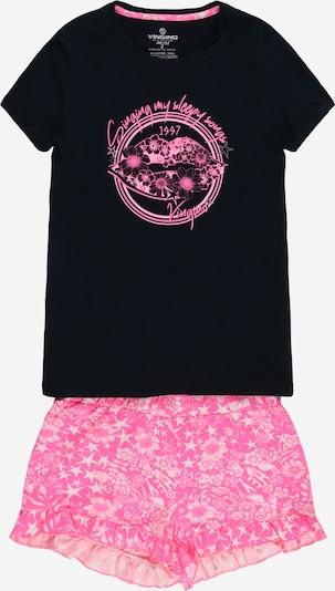 VINGINO Pyjama 'Wilder' en rose / rose / noir / blanc, Vue avec produit