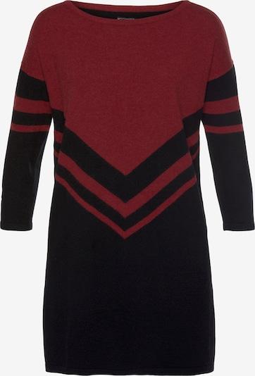 LAURA SCOTT Longpullover in rot / schwarz, Produktansicht