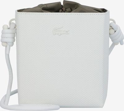 LACOSTE Chantaco Beuteltasche Leder 14,5 cm in weiß, Produktansicht