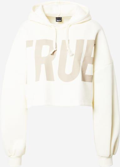 Gina Tricot Sweatshirt 'Heidi' in camel / offwhite, Produktansicht