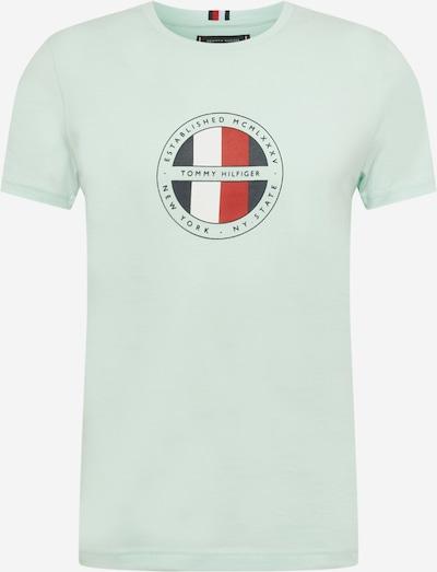 TOMMY HILFIGER Shirt in navy / mint / rot / weiß, Produktansicht