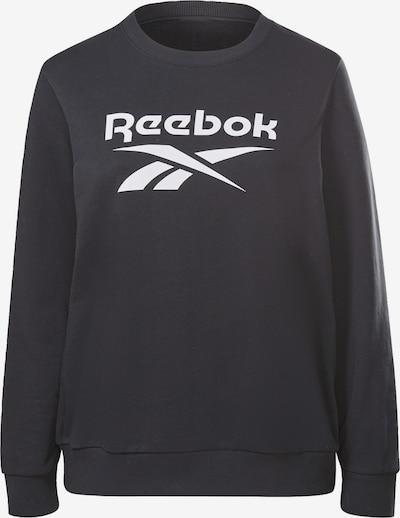 Reebok Sport Athletic Sweatshirt in Black / White, Item view