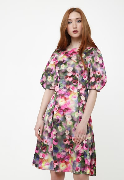 Madam-T Sommerkleid 'ROBERTA' in grau / pink, Modelansicht