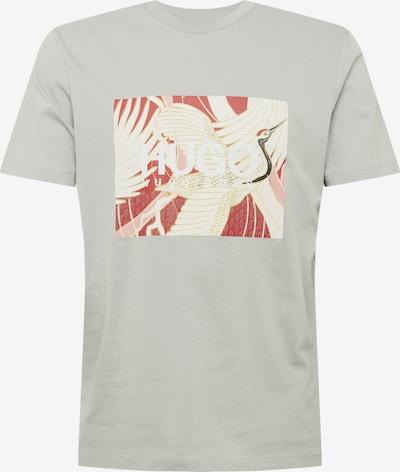 HUGO Shirt 'Dolive' in de kleur Donkeroranje / Lichtroze / Zwart / Zilver / Wit, Productweergave