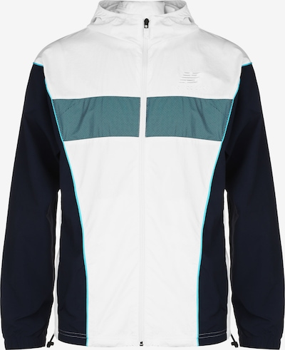 new balance Prechodná bunda 'Athletics' - modrozelená / čierna melírovaná / biela, Produkt