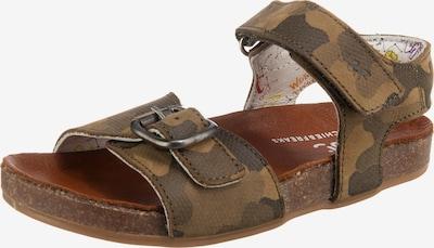 Jochie & Freaks Sandale in braun / dunkelgrün, Produktansicht