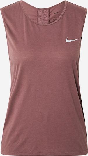 NIKE Top deportivo 'Run Division' en rojo vino / blanco, Vista del producto
