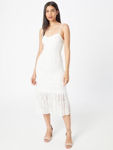 Skirt & Stiletto Kokteilikleit 'Genova', värv valge
