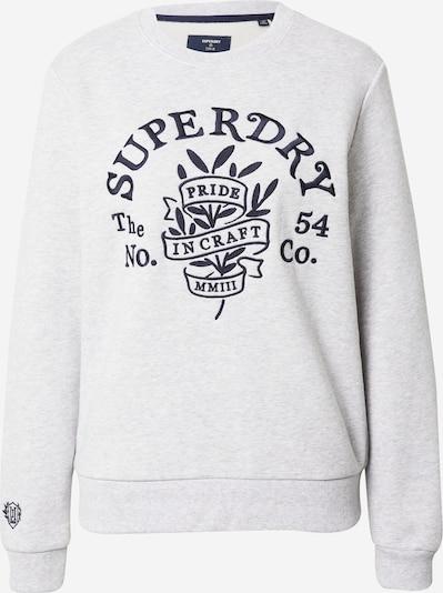 Superdry Sweatshirt 'PRIDE IN CRAFT' in navy / graumeliert, Produktansicht