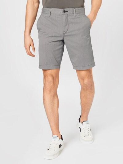 BOSS Casual Pantalon chino en noir / blanc, Vue avec modèle