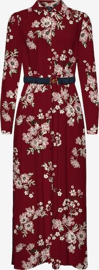 VERO MODA Kleid 'Roma' in beige / grün / altrosa / dunkelrot, Produktansicht