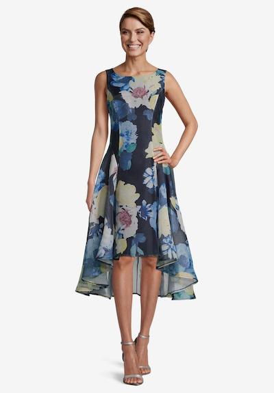 Vera Mont Cocktailkleid mit Blumenprint in dunkelblau, Modelansicht