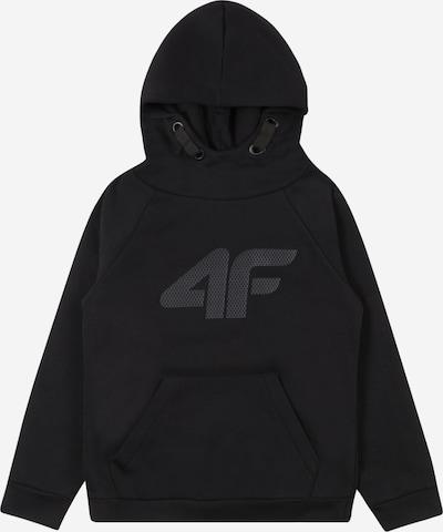 4F Sportsweatshirt in dunkelgrau / schwarz, Produktansicht