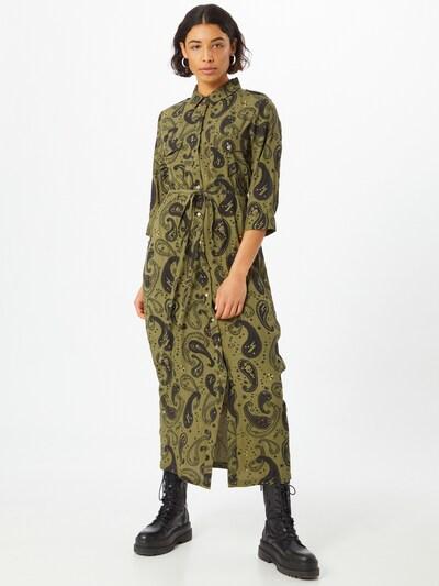 Goosecraft Kleid 'Harlow' in oliv / dunkelgrün, Modelansicht