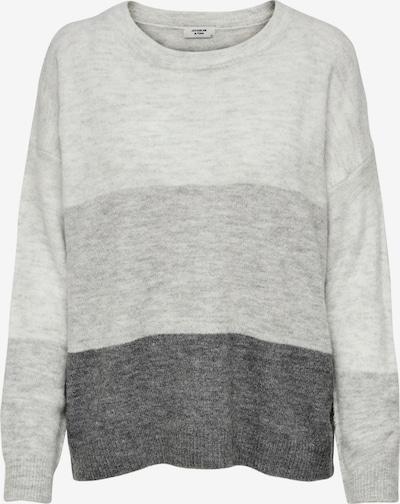 JDY Pullover 'Elanora' in grau / hellgrau / dunkelgrau, Produktansicht
