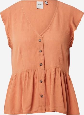 ICHI Bluse in Orange