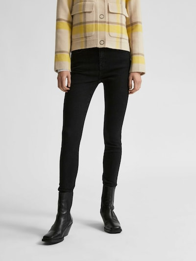 SELECTED FEMME Jeans in schwarz, Modelansicht