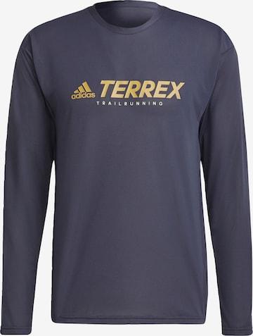 T-Shirt fonctionnel 'Terrex' adidas Terrex en bleu