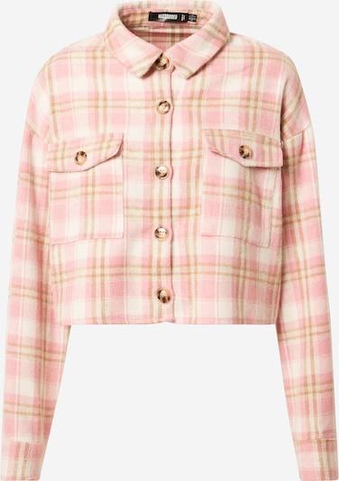 Missguided Jacke in dunkelbeige / pink / weiß, Produktansicht