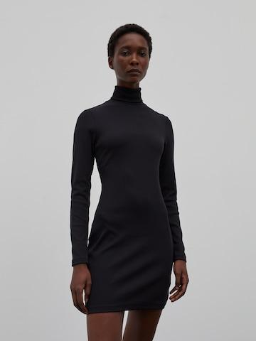 EDITED Gebreide jurk 'Dada' in Zwart