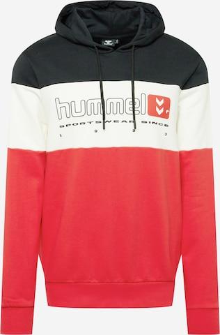 Hummel Спортен блузон с качулка в червено