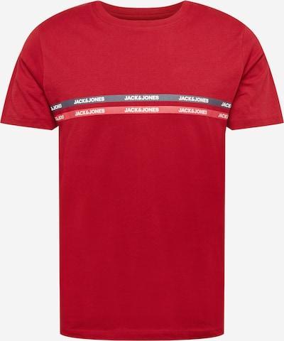 JACK & JONES T-shirt 'GAVIN' i marinblå / röd / ljusröd / vit, Produktvy