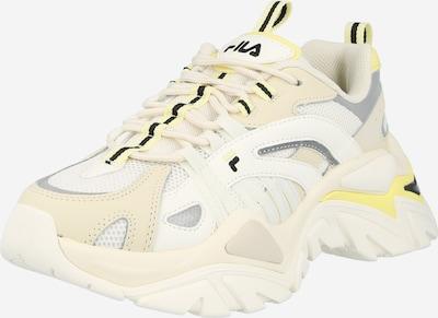 FILA Baskets basses 'Electrove' en crème / jaune / blanc, Vue avec produit