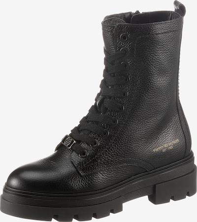 Suvarstomieji kulkšnis dengiantys batai iš TOMMY HILFIGER, spalva – Auksas / juoda, Prekių apžvalga