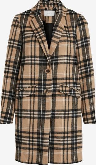 VILA Mantel in hellbraun / schwarz / weiß, Produktansicht