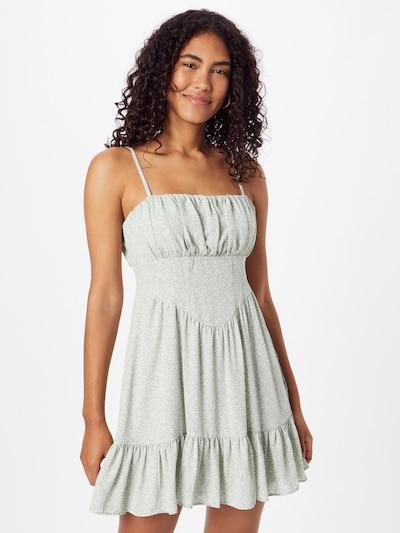NA-KD Kleid in creme / hellgrün, Modelansicht