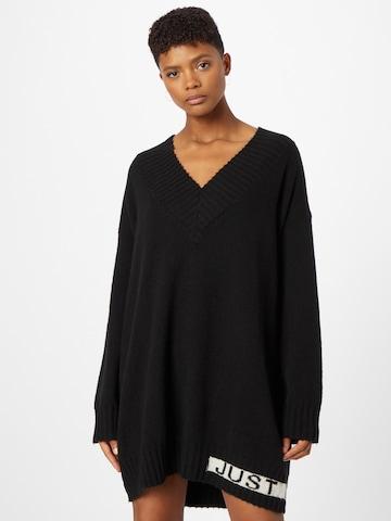 Just Cavalli Gebreide jurk in Zwart
