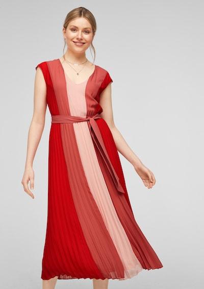 s.Oliver BLACK LABEL Kleid in rosa / pitaya / rot, Modelansicht