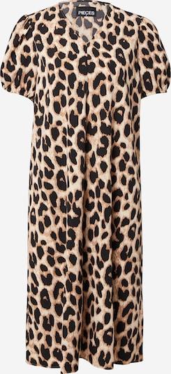 PIECES Kleid 'GURLA' in camel / hellbeige / schwarz, Produktansicht