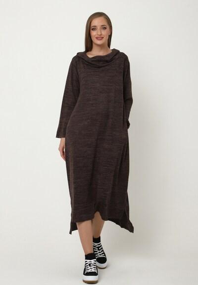 Madam-T Kleid 'Adelinara' in braun, Modelansicht