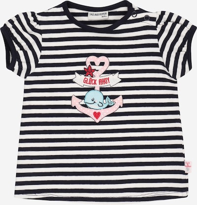 SALT AND PEPPER Shirt in de kleur Navy / Rosa / Vuurrood / Zwart / Wit, Productweergave