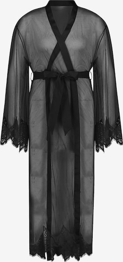 Hunkemöller Dressing gown 'Cravache' in Black, Item view