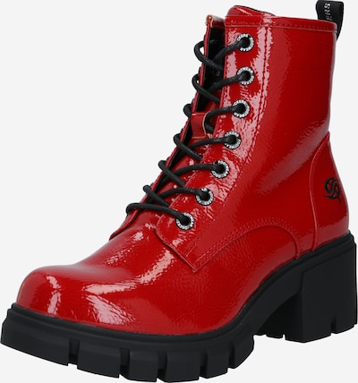 Dockers by Gerli Bottines à lacets en rouge / noir, Vue avec produit