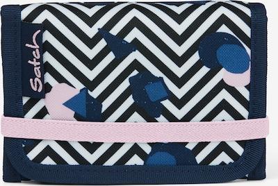 Satch Geldbörse in blau / pastellpink / schwarz / weiß, Produktansicht