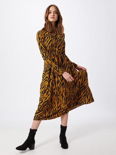 Moves Kleid 'Tanisa 2133' in cognac / schwarz, Modelansicht