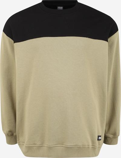 Urban Classics Plus Size Sweatshirt in de kleur Kaki / Zwart, Productweergave