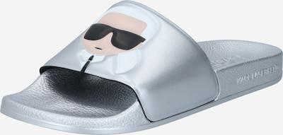Zoccoletto 'KONDO II' Karl Lagerfeld di colore beige / nero / argento / bianco, Visualizzazione prodotti