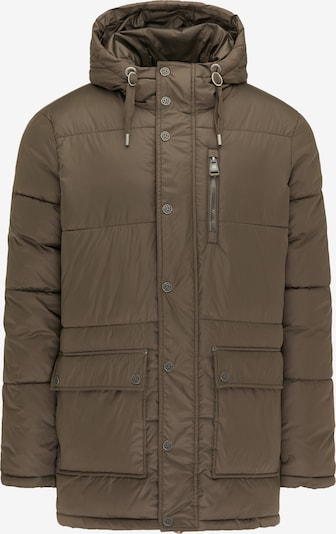 DreiMaster Vintage Winterjas in de kleur Olijfgroen, Productweergave